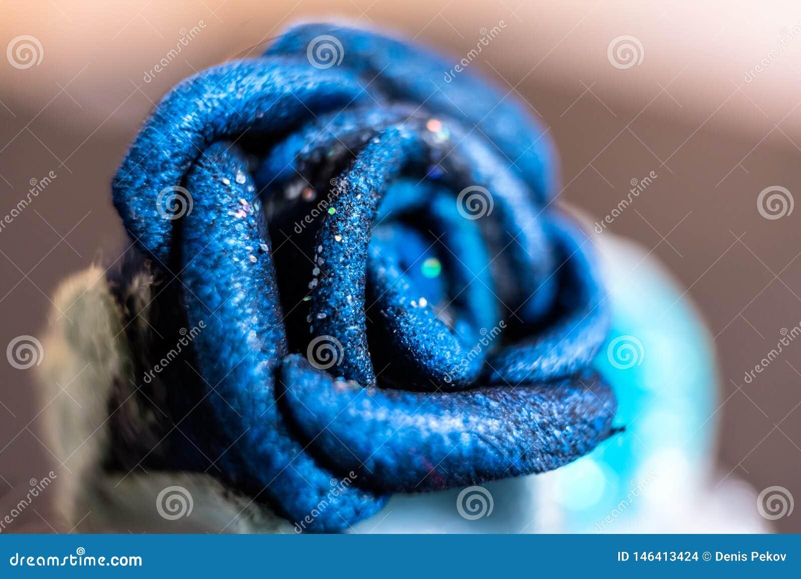 Fiore artificiale, macro foto