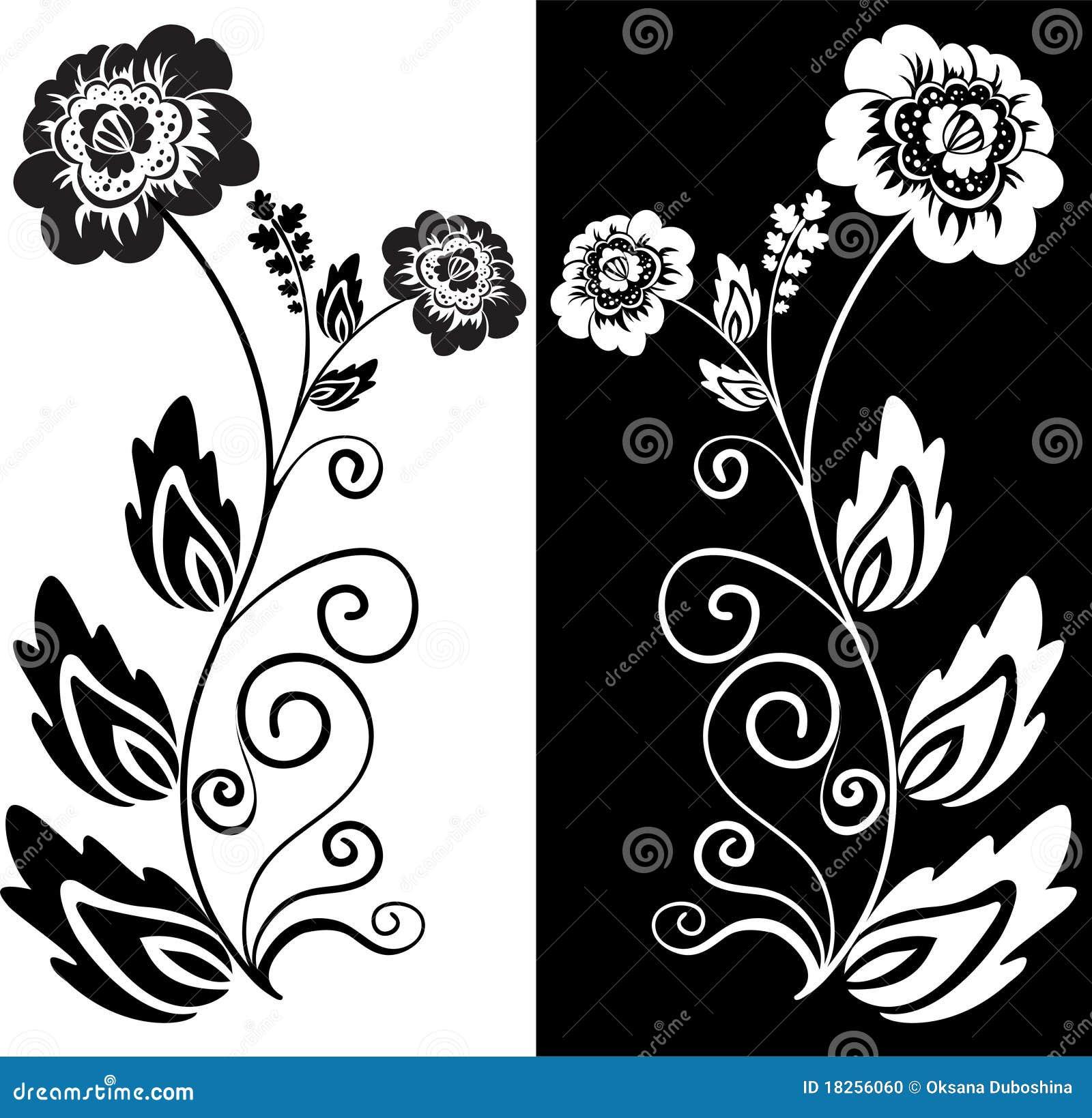 Цветы чб рисунки