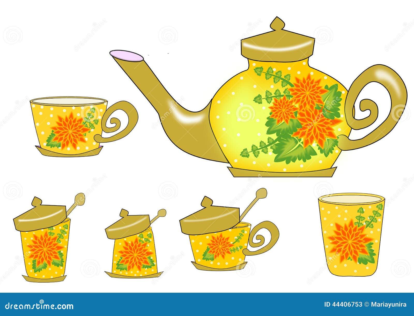 Fiore dell insieme di tè