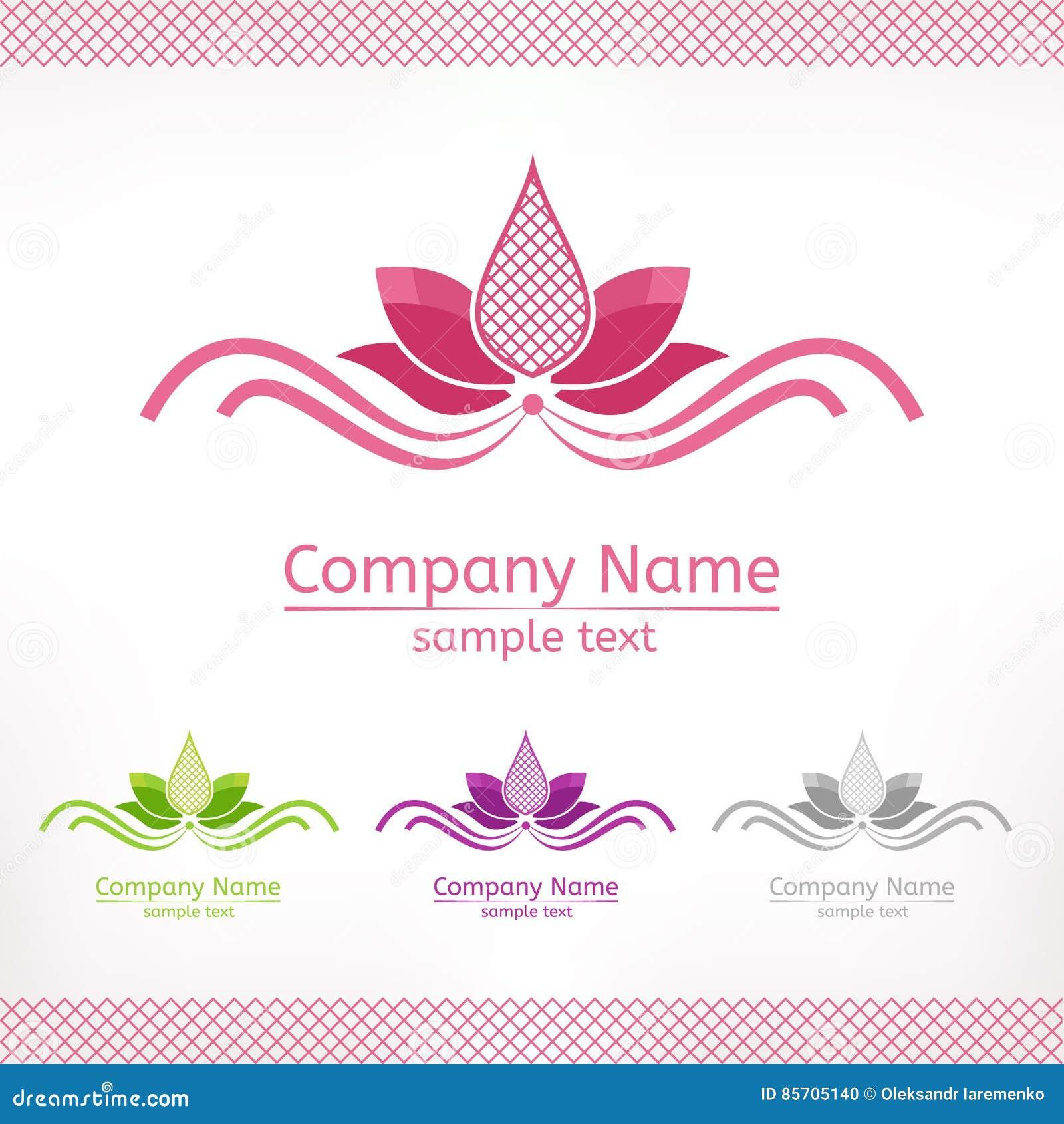 Fiore di loto rosa stilizzato progettazione di logo del - Modello di base del fiore ...