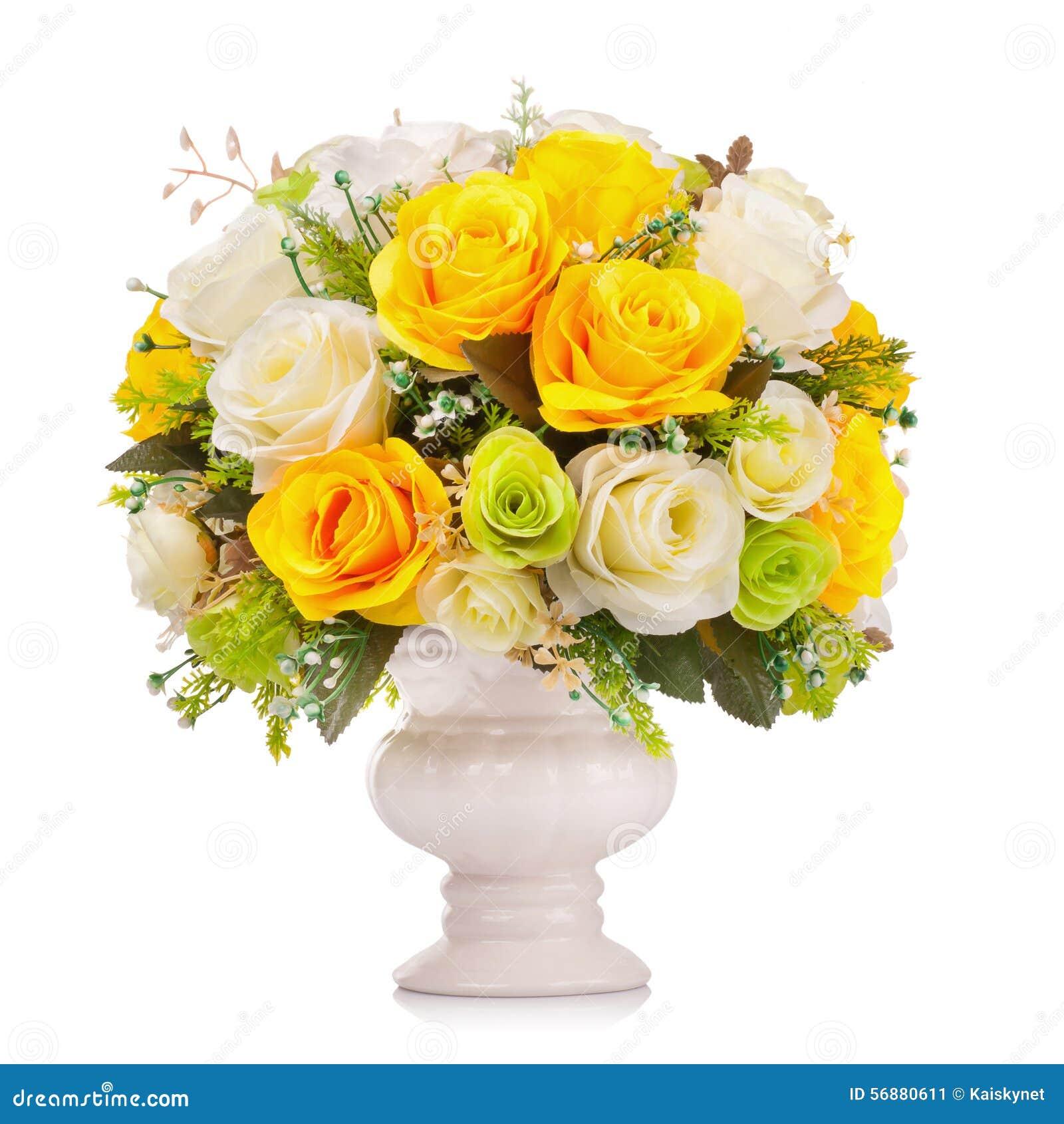 Fiore di plastica per la decorazione su fondo bianco