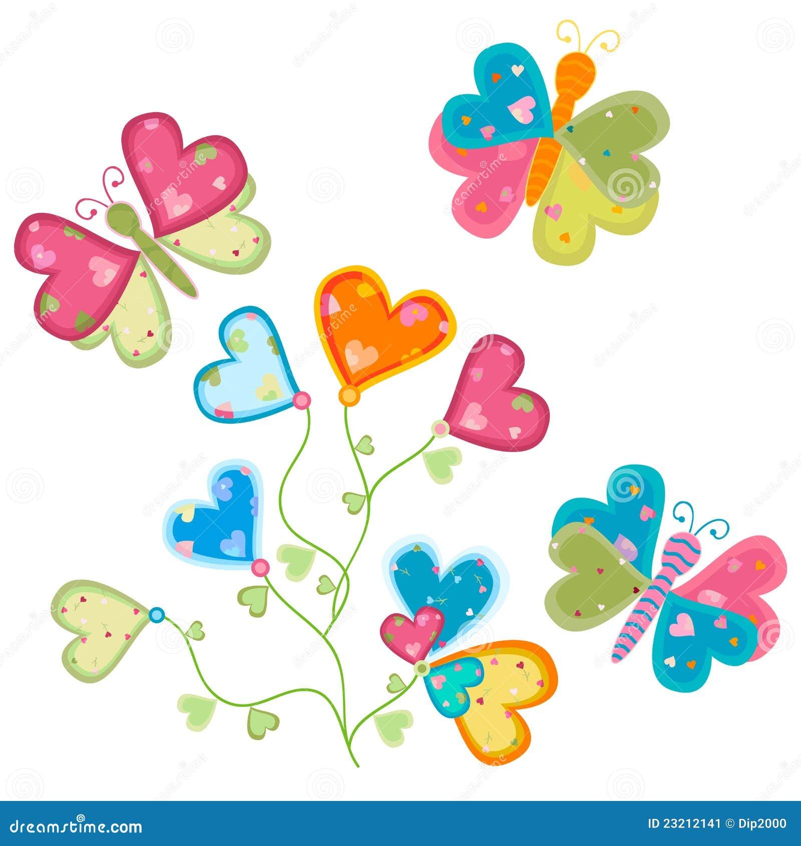 Fiore e farfalle di amore
