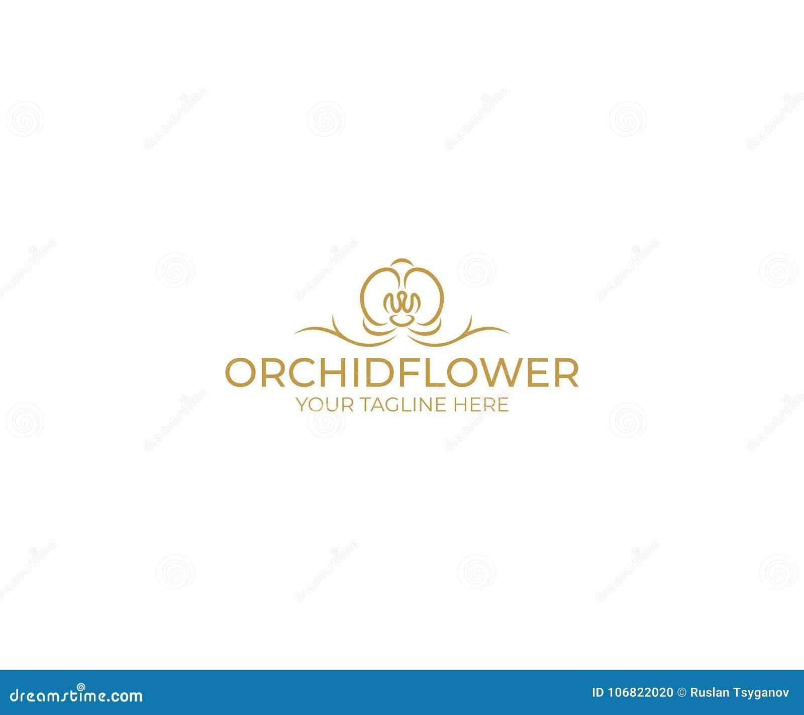 Fiore Logo Template dell orchidea Progettazione di vettore di phalaenopsis