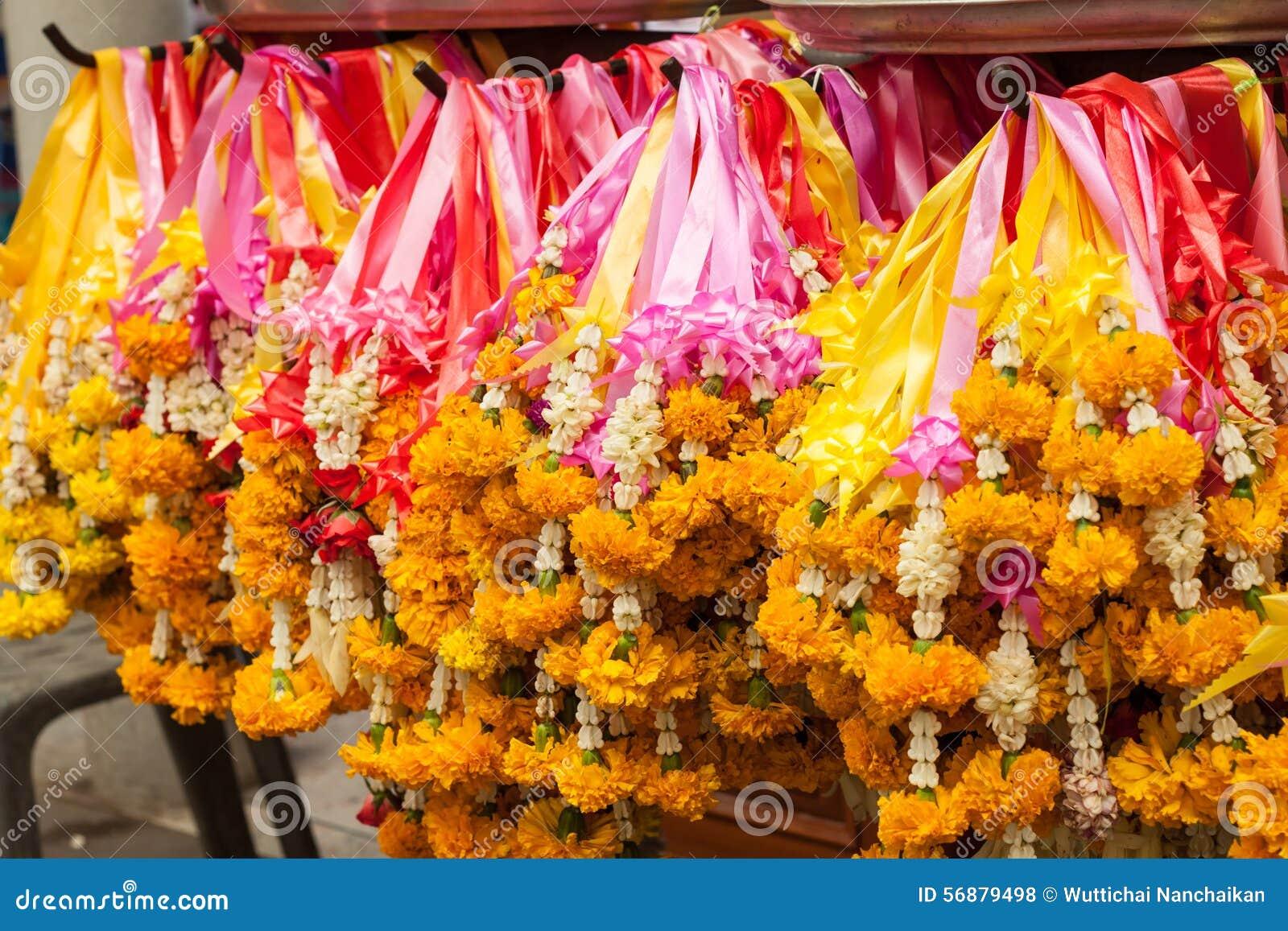 Fiore variopinto della ghirlanda tailandese