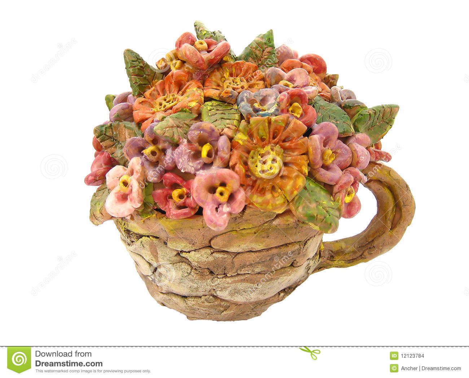 Fiori Di Ceramica.Fiori Di Ceramica Fotografia Stock Immagine Di Mano 12123784