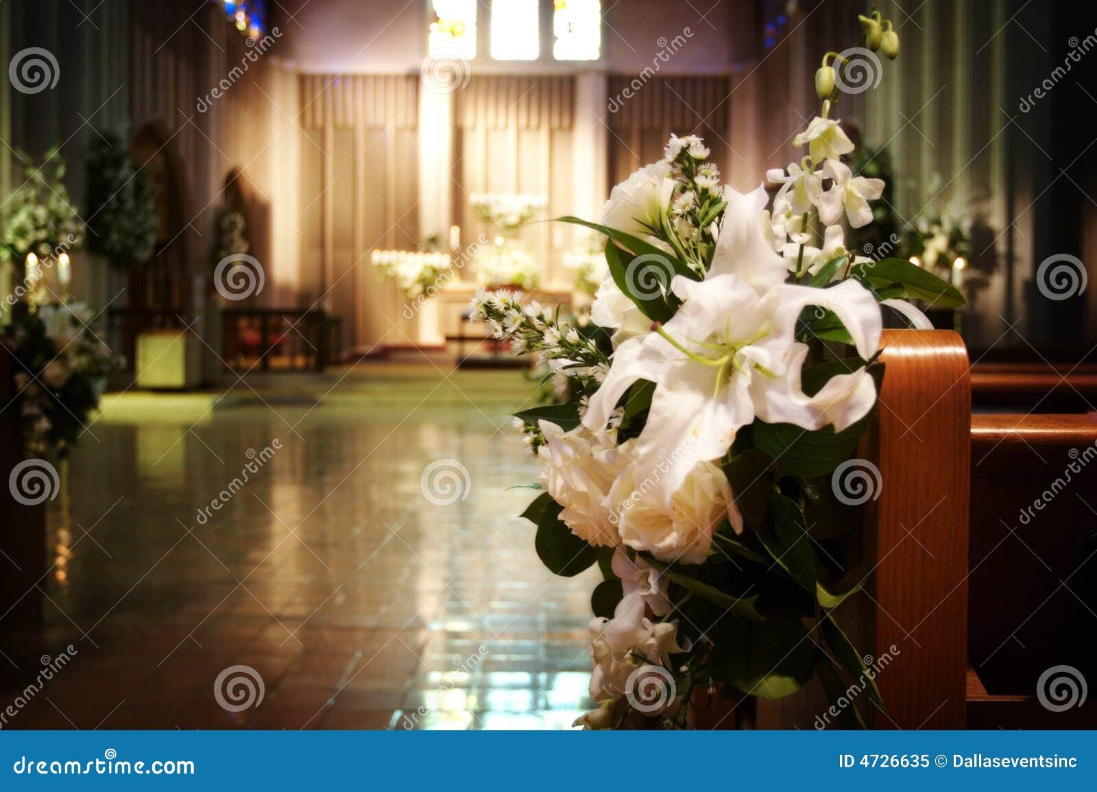 Fiori di cerimonia nuziale chiesa