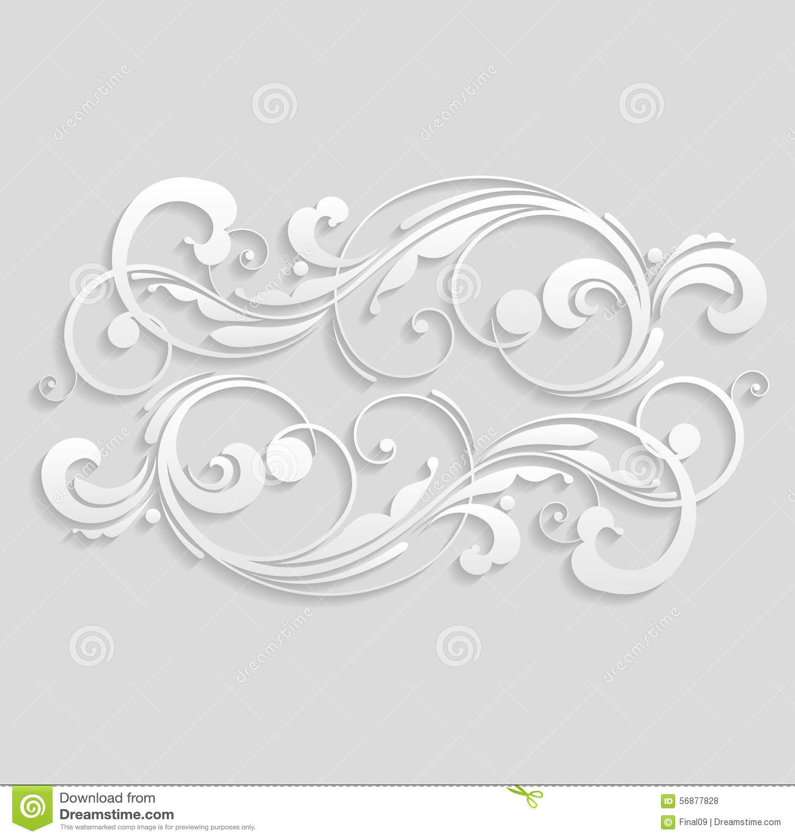 Fiori ed elementi floreali tagliati da carta