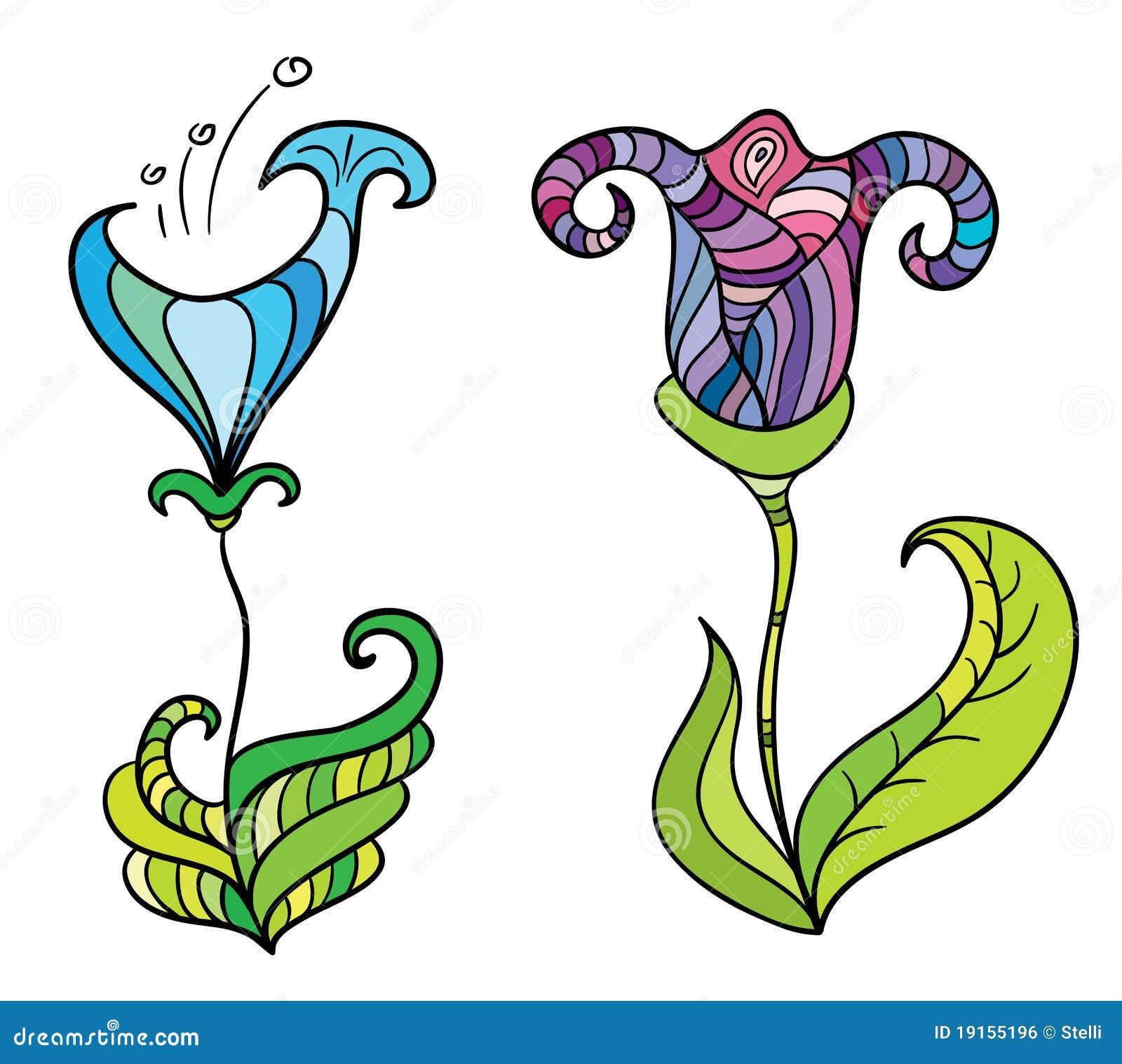 fiori fantastici di colore immagine stock libera da