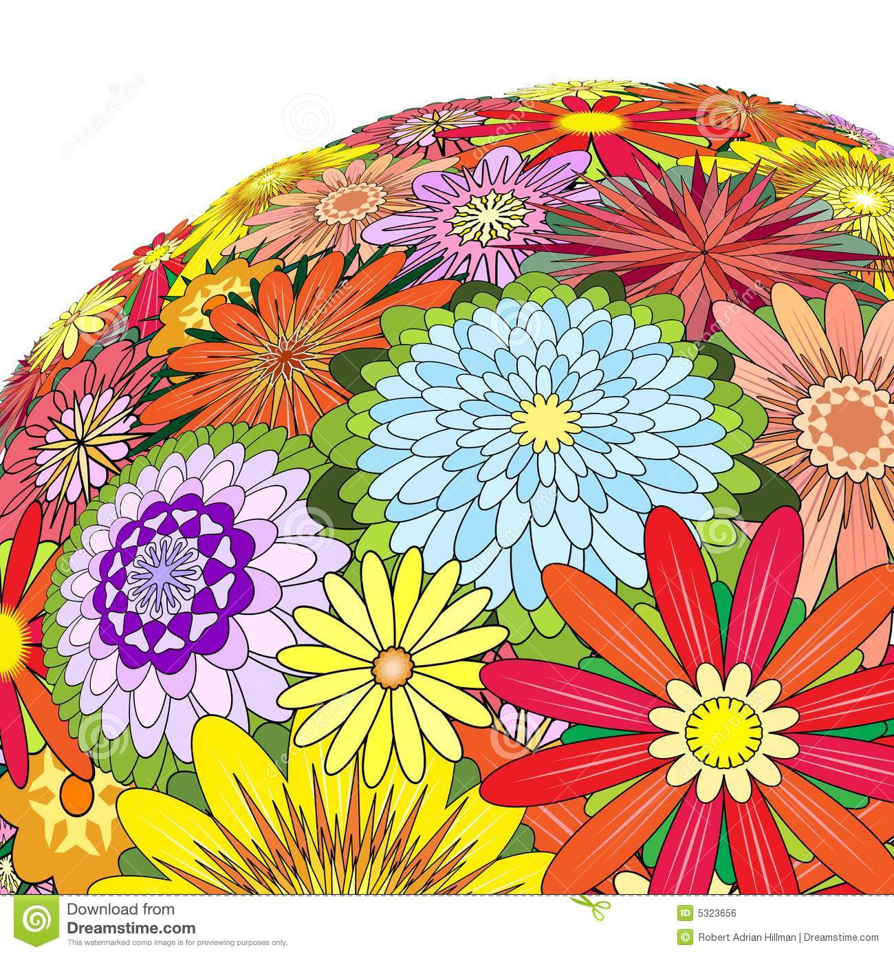 Download Fiori Mixed illustrazione vettoriale. Illustrazione di estate - 5323656