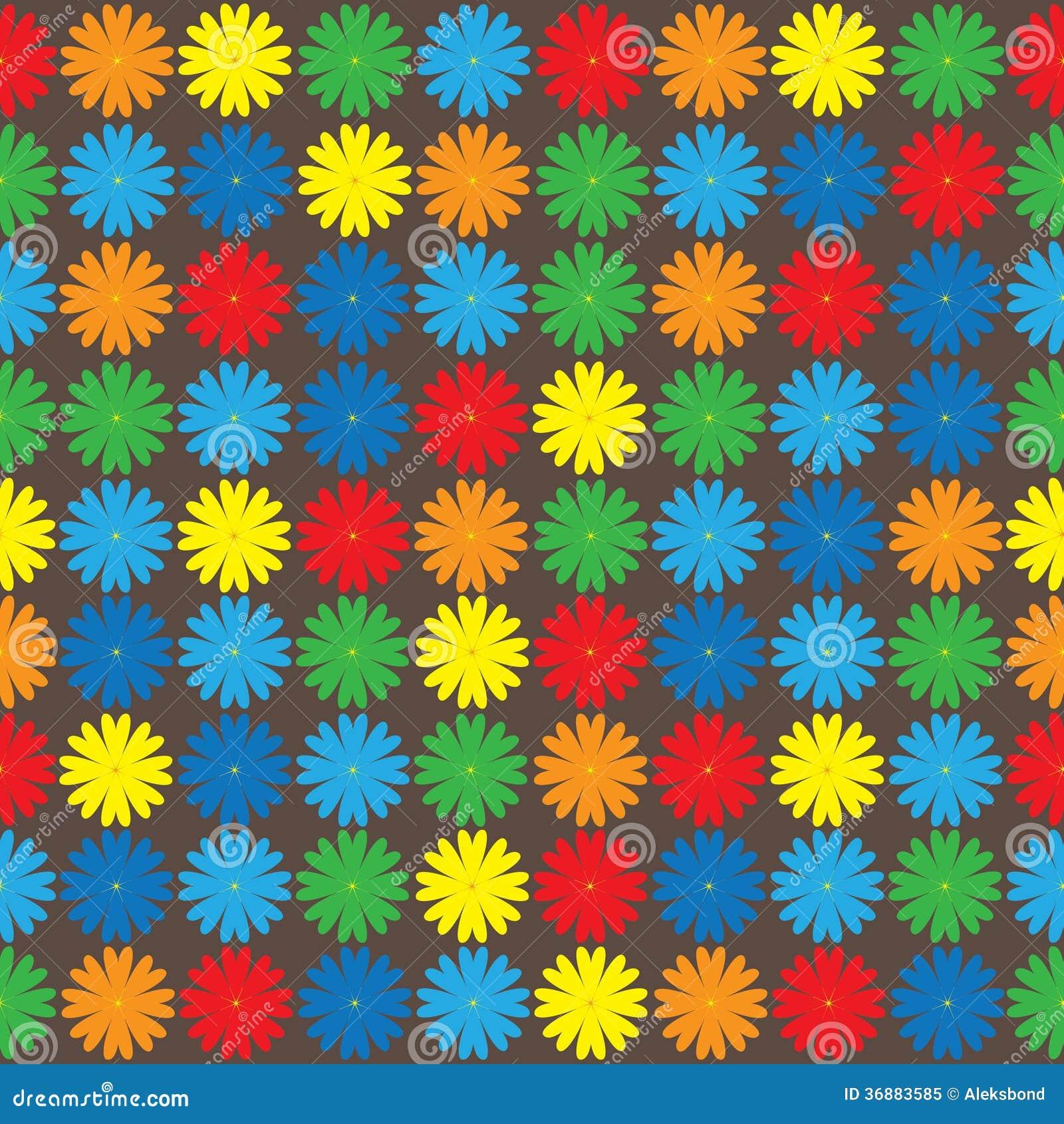 Download Fiori Multicolori Del Modello Senza Cuciture Illustrazione Vettoriale - Illustrazione di cute, estate: 36883585