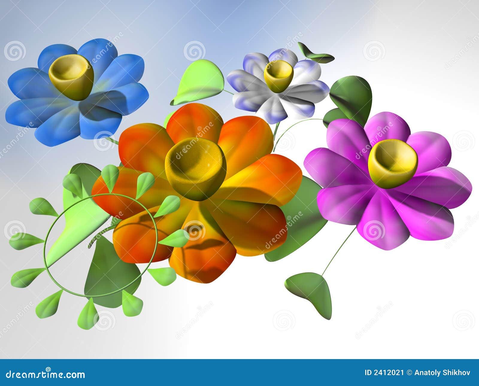fiori psichedelici immagine stock immagine 2412021