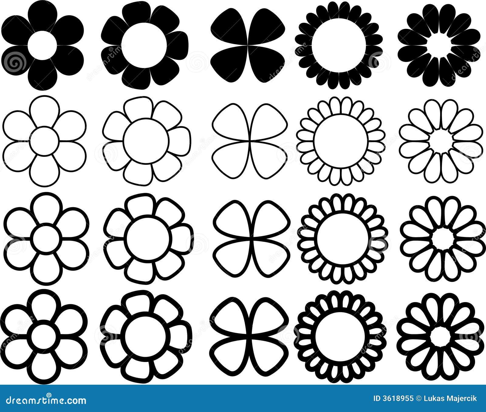 Fiori semplici in bianco e nero fotografia stock libera da for Fiori semplici