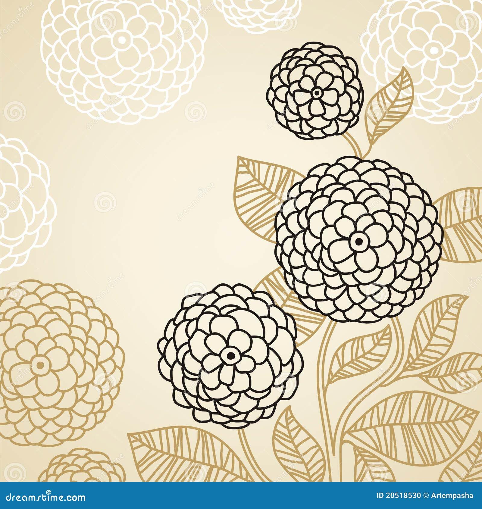 Fiori Stilizzati Illustrazione Vettoriale Illustrazione Di Elemento