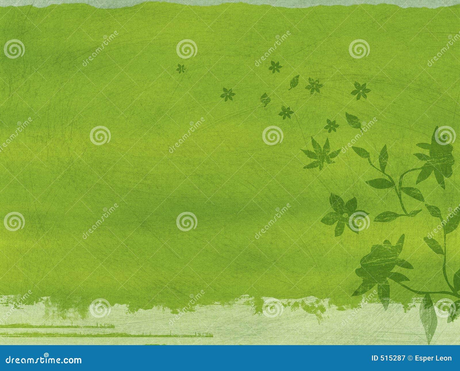 Fiori verdi di grunge illustrazione di stock for Fiori verdi