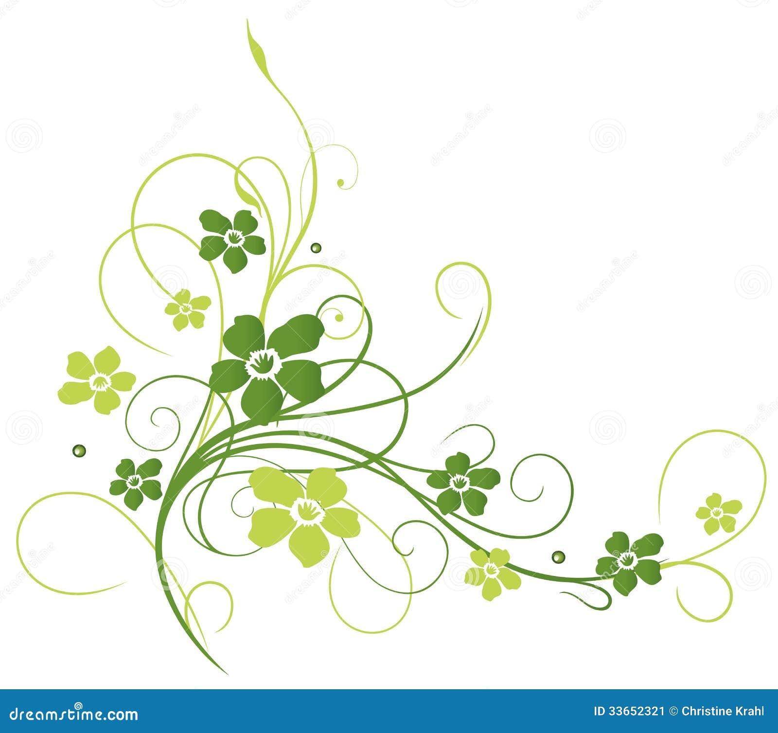 Fiori viticcio verde illustrazione vettoriale for Fiori verdi