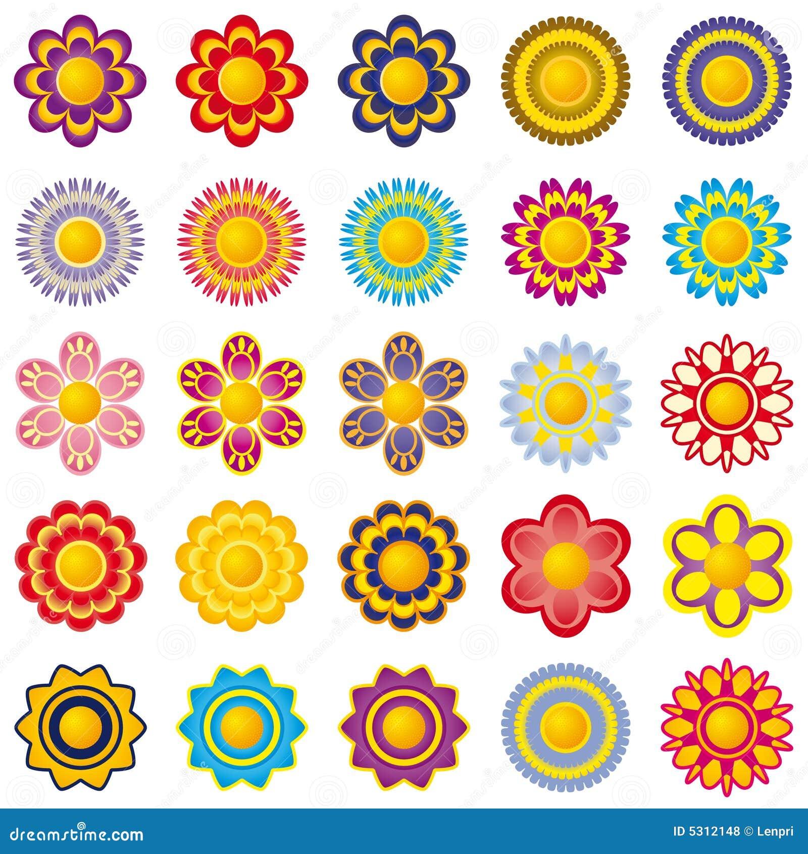 Download Fiorisce Gli Elementi Di Decorazione Illustrazione Vettoriale - Illustrazione di insieme, estratto: 5312148