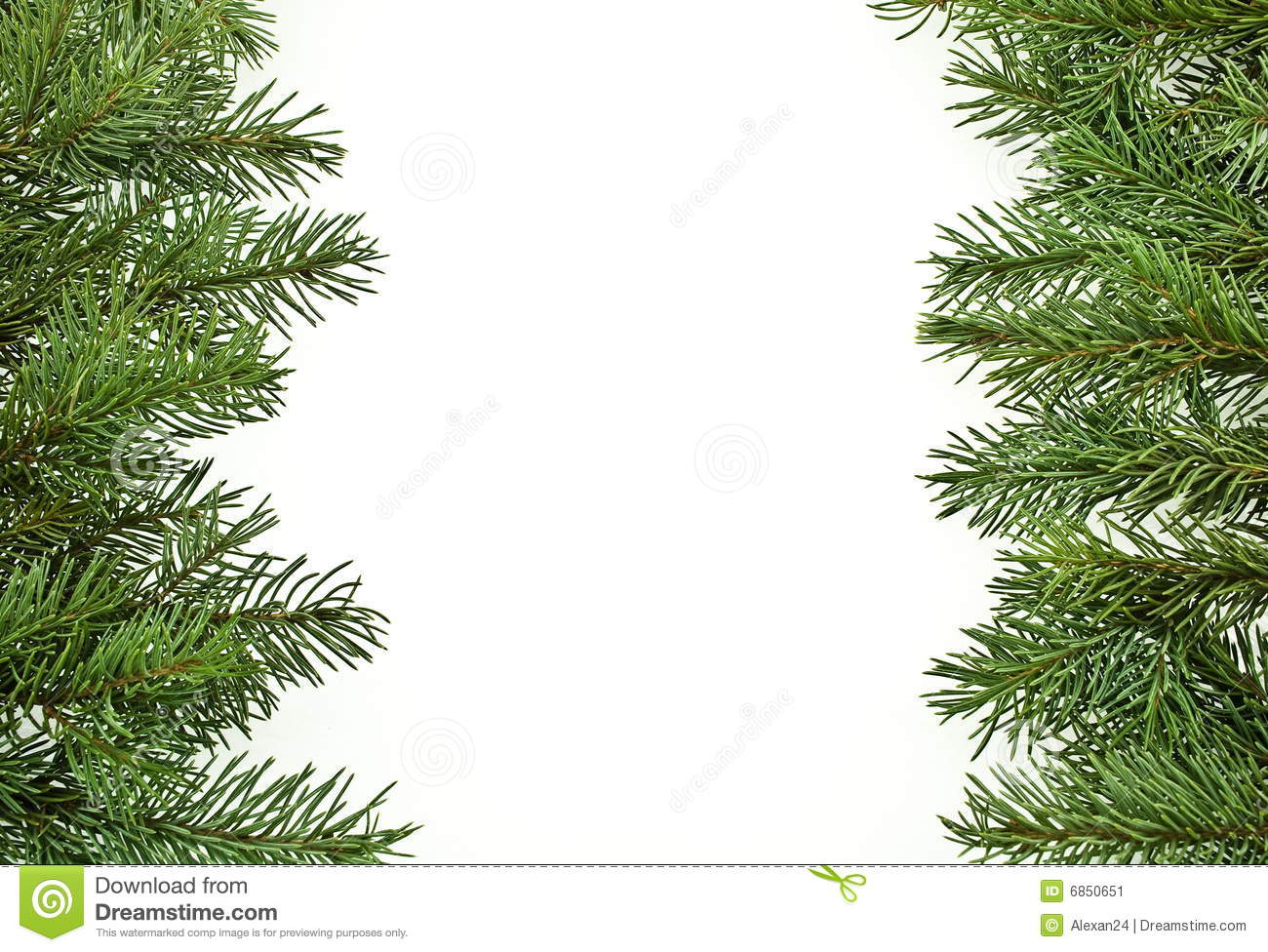 Fir Tree Branches, Christmas Decoration Stock Image - Image: 6850651