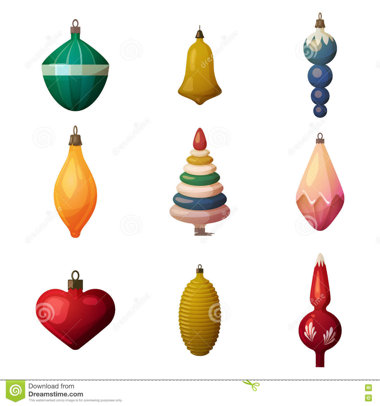 Glass heart christmas ornaments - 2017 Fir Tree Decoration Baubles And Bokeh Ornament New Year And Merry Christmas Or