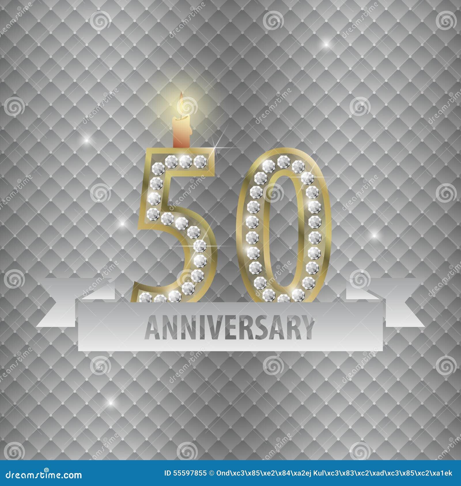fira 50 år Fira 50 år årsdag Guld  Stil Vektor Vektor Illustrationer  fira 50 år