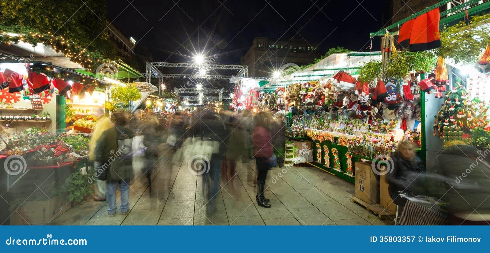 Fira de Santa Llucia - Christmas market in Barcelona
