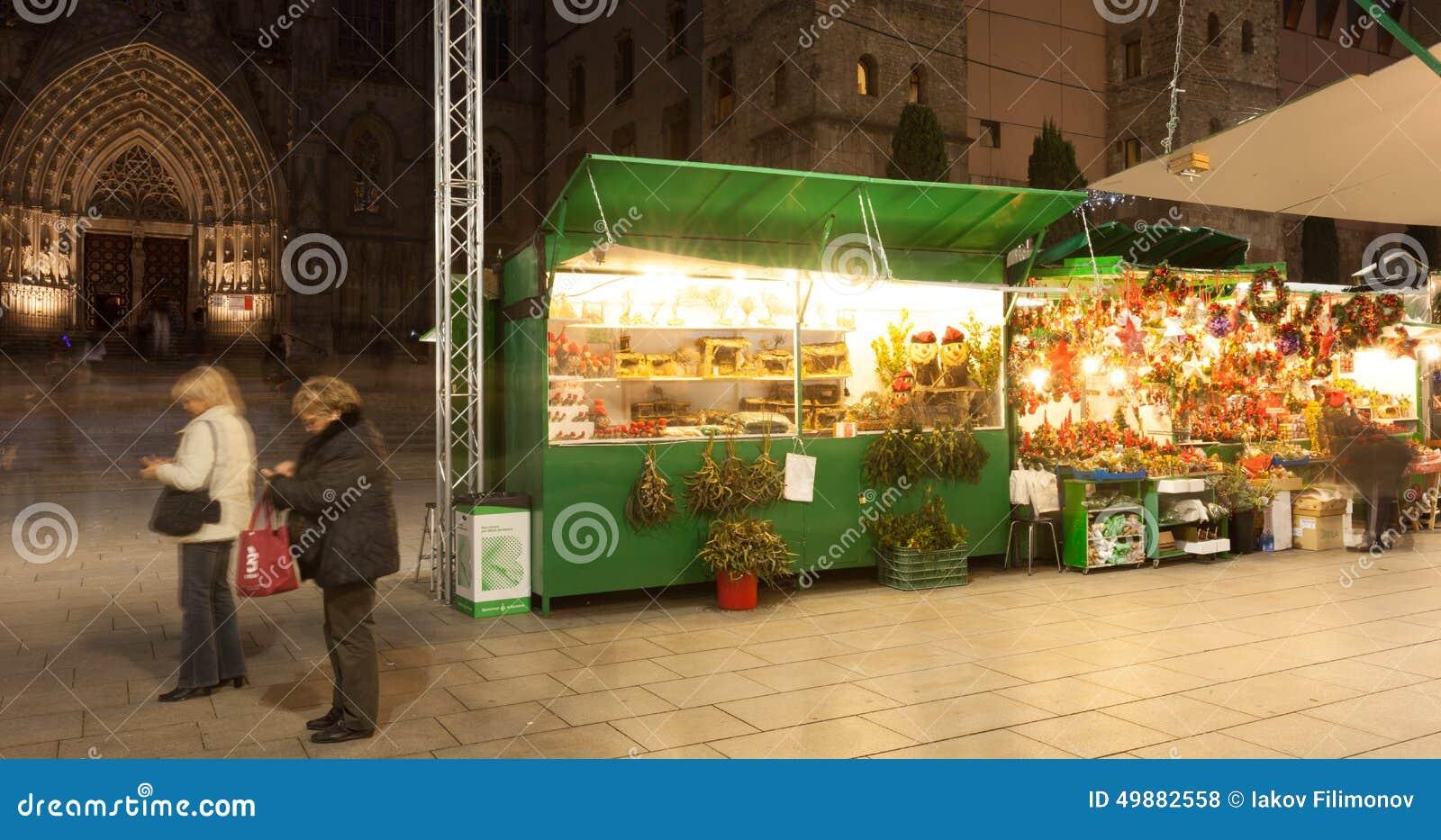 Fira de Santa Llucia - Christmas market near Cathedral