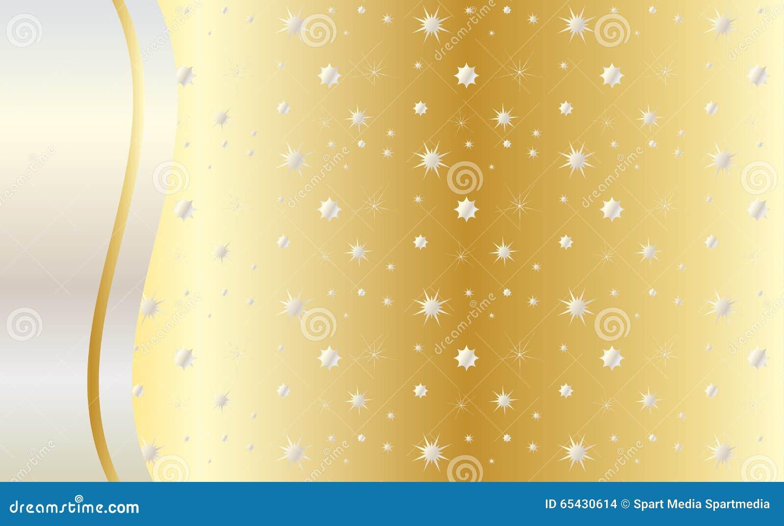 Fira den guld- bakgrundsvektorn