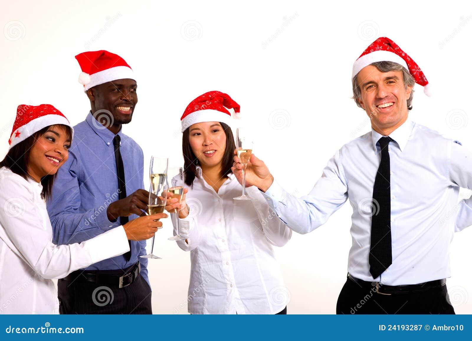 Fira jul för Multi-ethnic lag