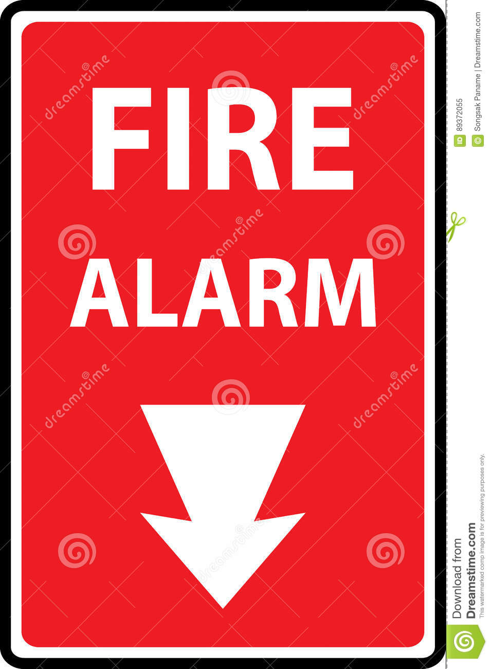 Fire Alarm Emergency Signs Stock Vector Illustration Of Button