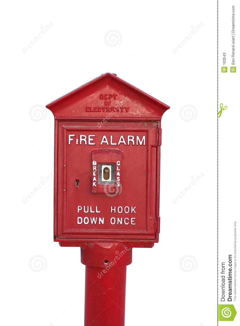 Fire alarm, isolated.