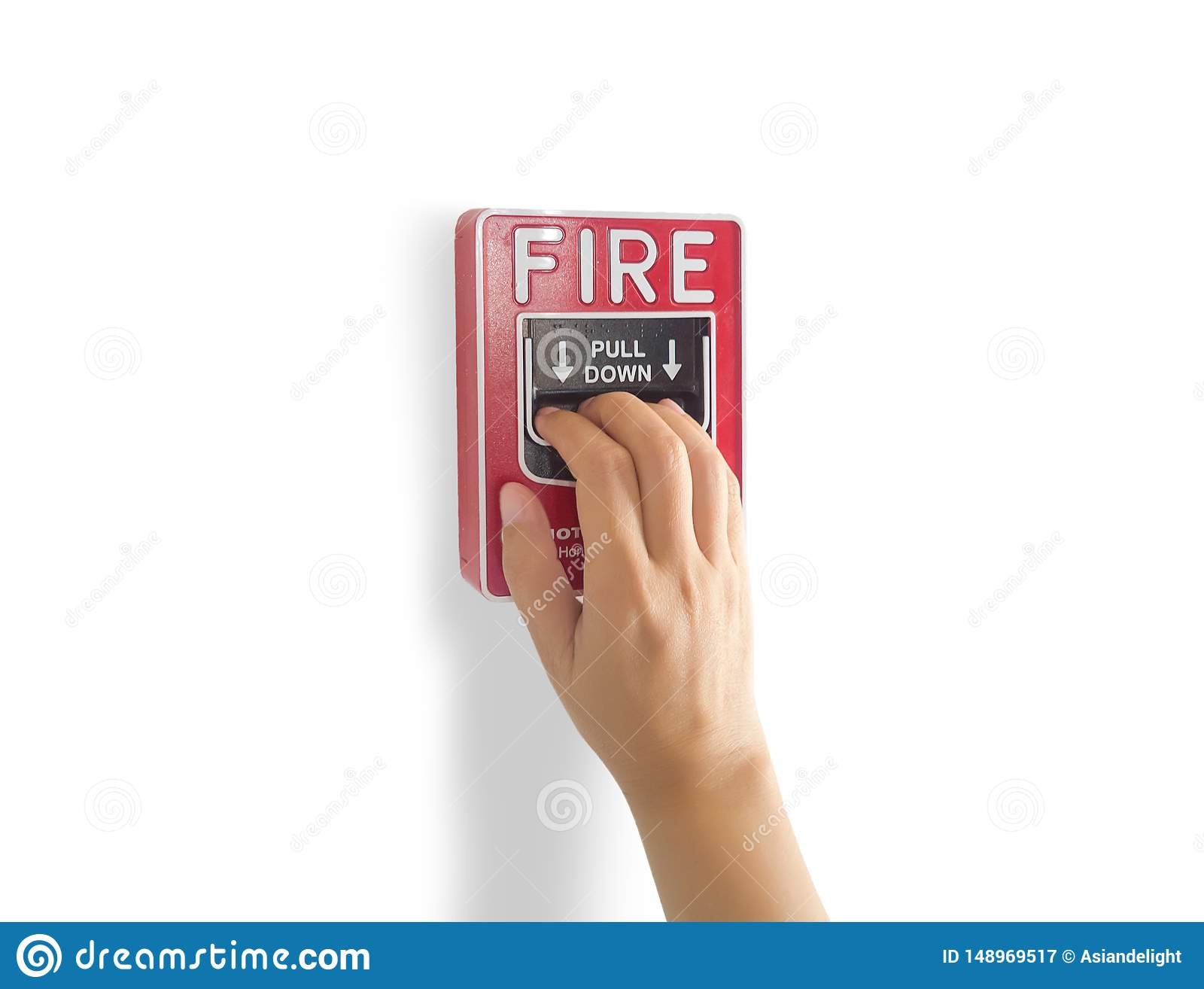 Fire alarm notification appliance, hand pull down fire alarm system switch on the wall by manual for making a loud noise
