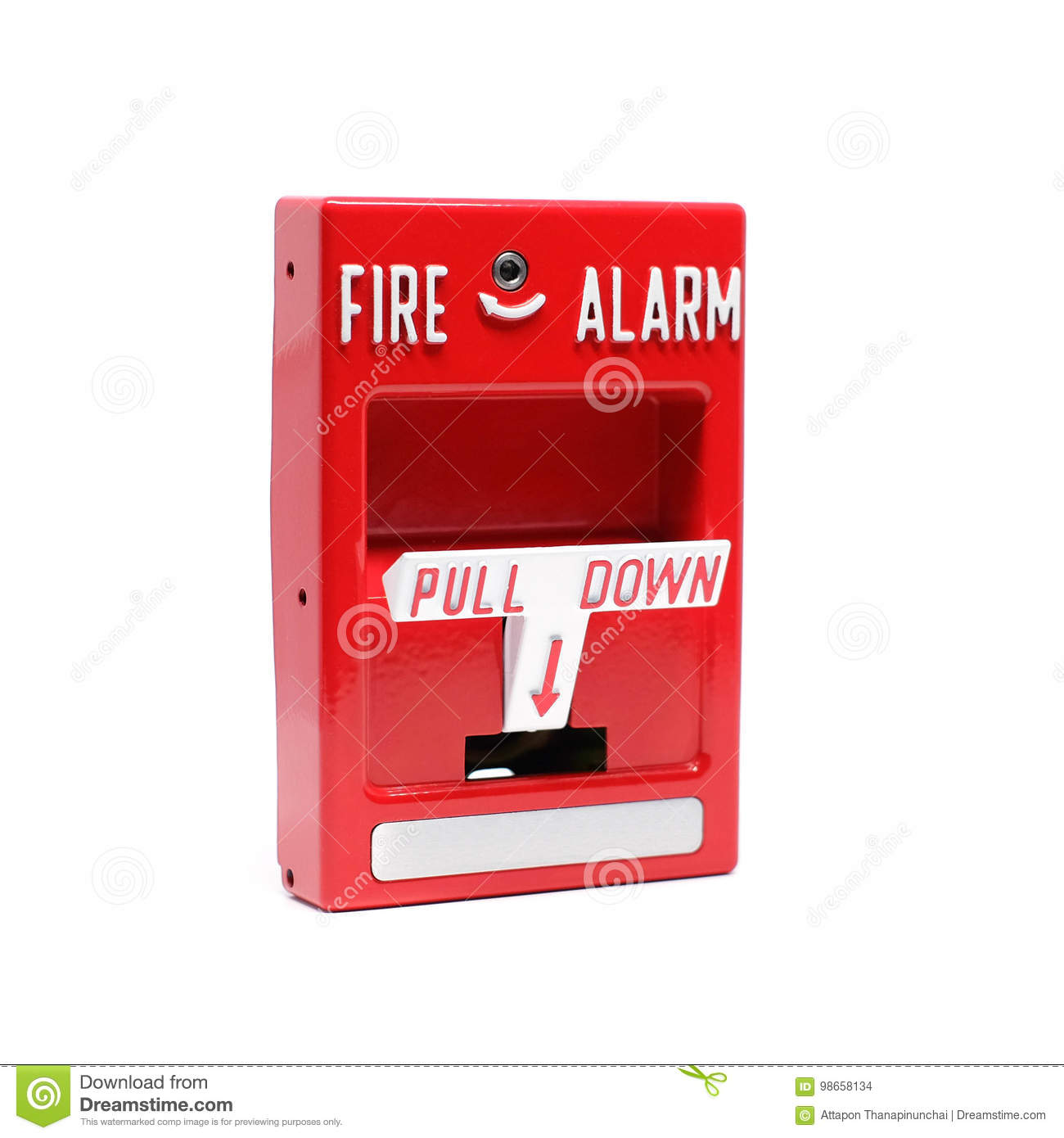 Fire Alarm Pull Station Stock Photo Image Of Button 98658134