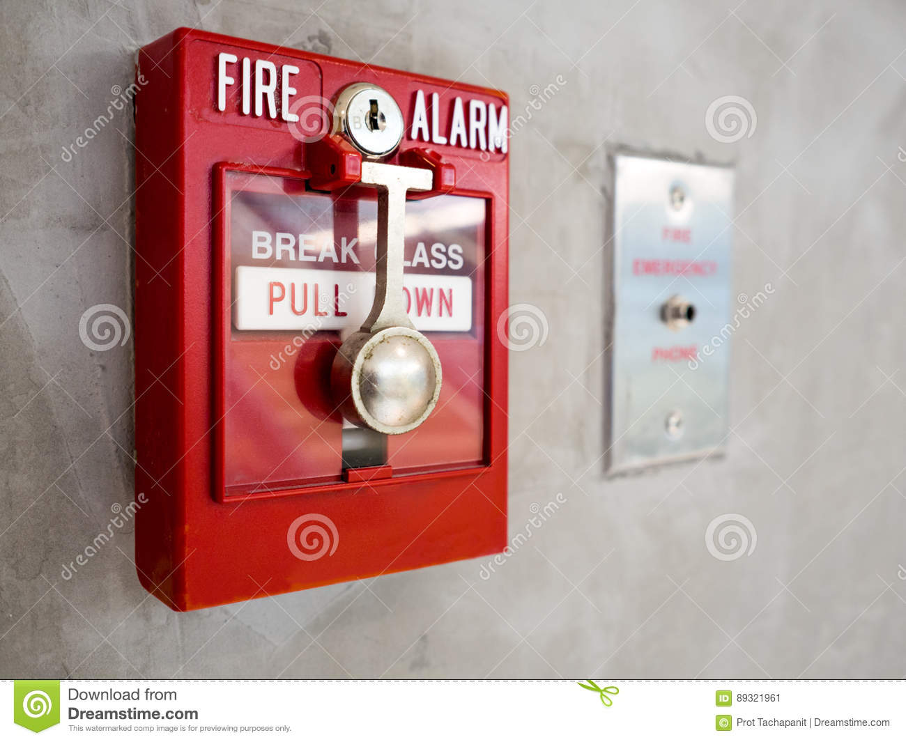 Download Fire Alarm stock image. Image of system, siren, danger - 89321961