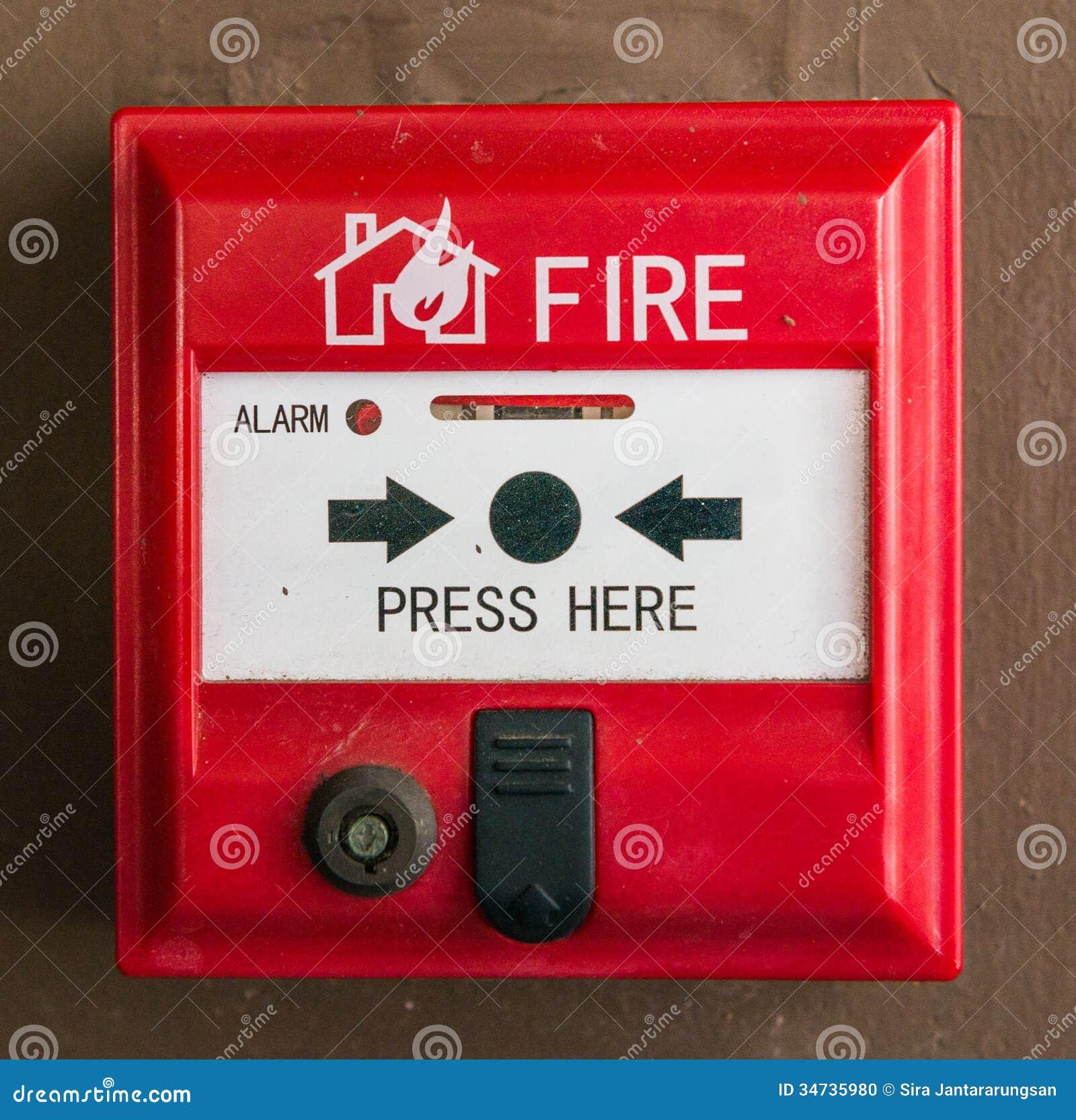 Fire Alarm Switch Stock Photo Image 34735980