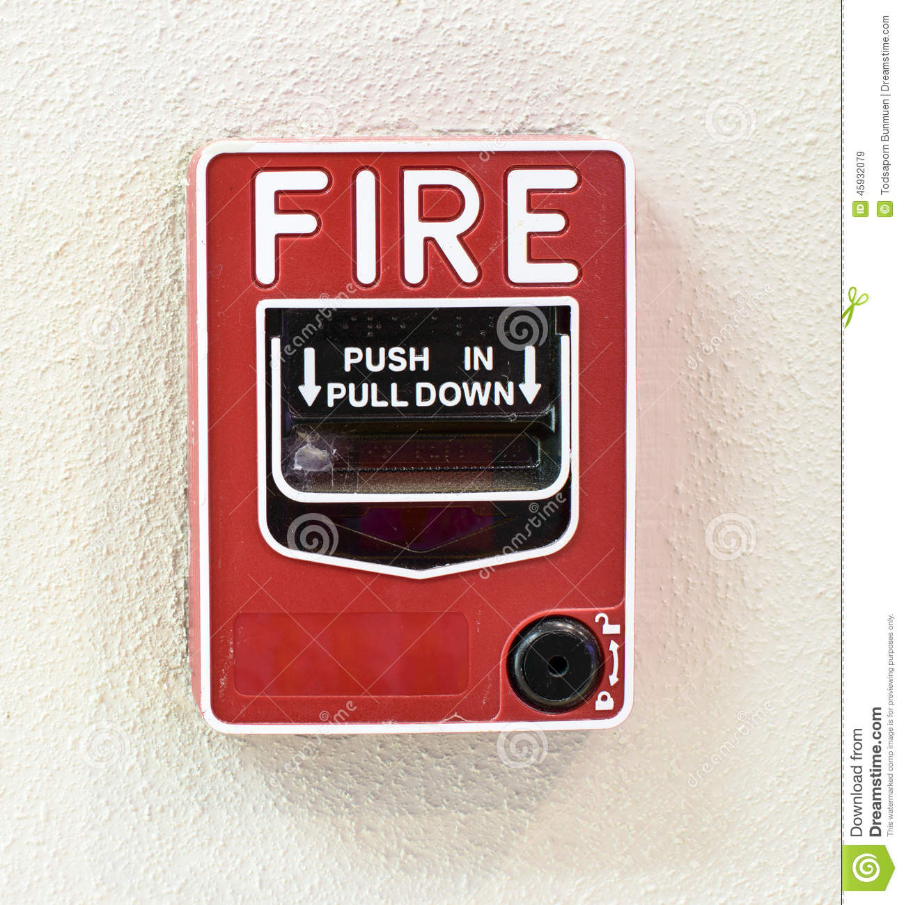 Fire Alarm Switch Stock Photo Image 45932079