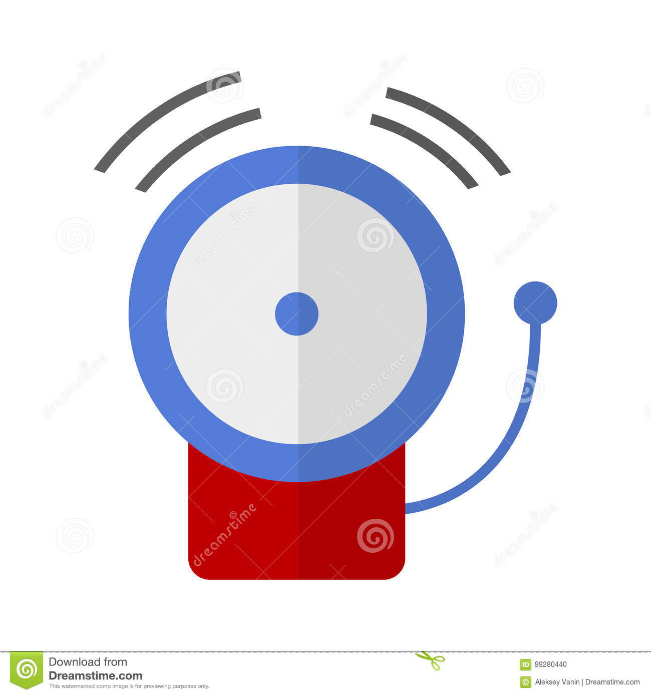 Fire Alarm System Flat Icon Stock Vector Illustration Of Safe