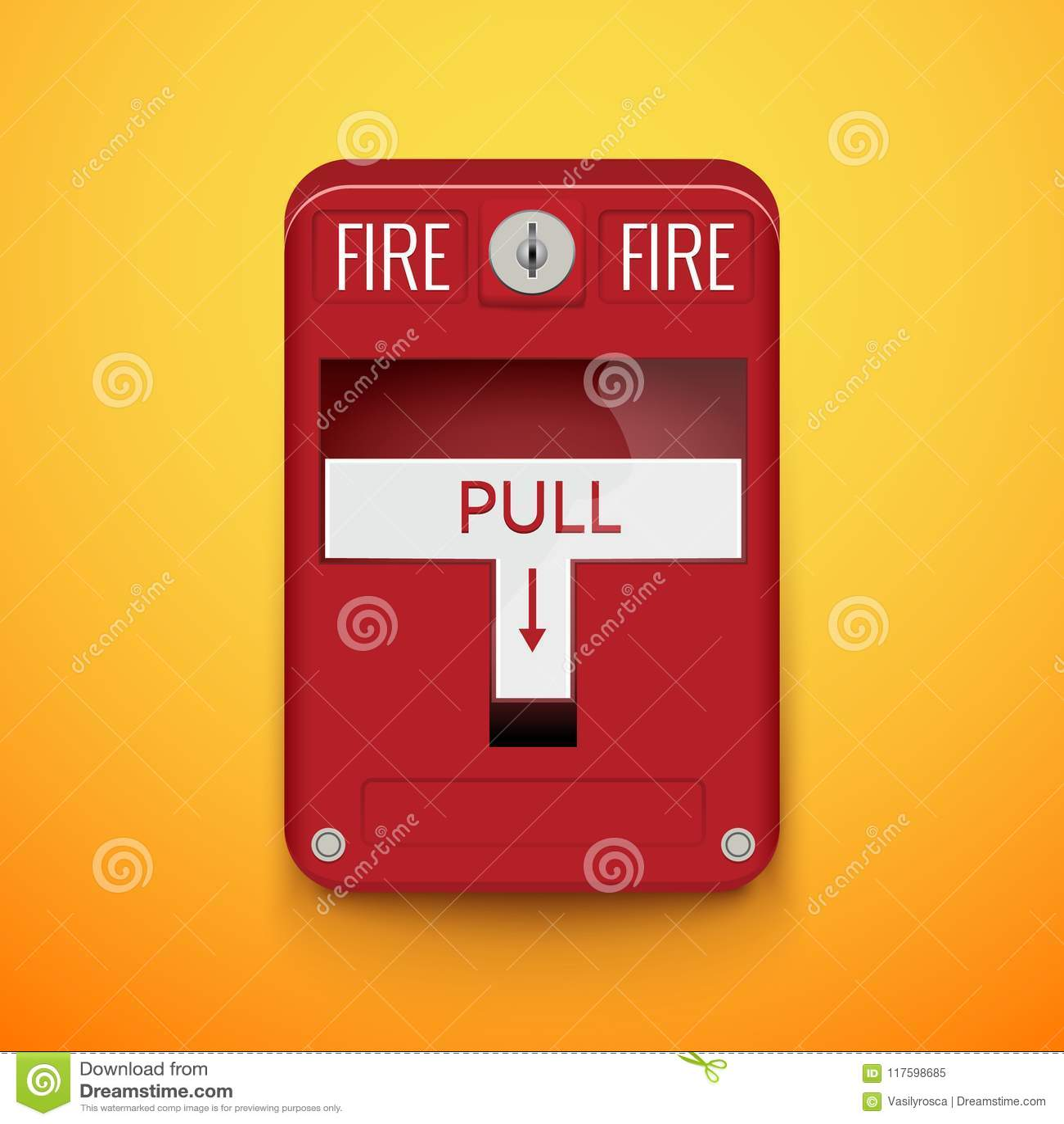 Fire Alarm System Pull Danger Fire Safety Box Break Red Alarm