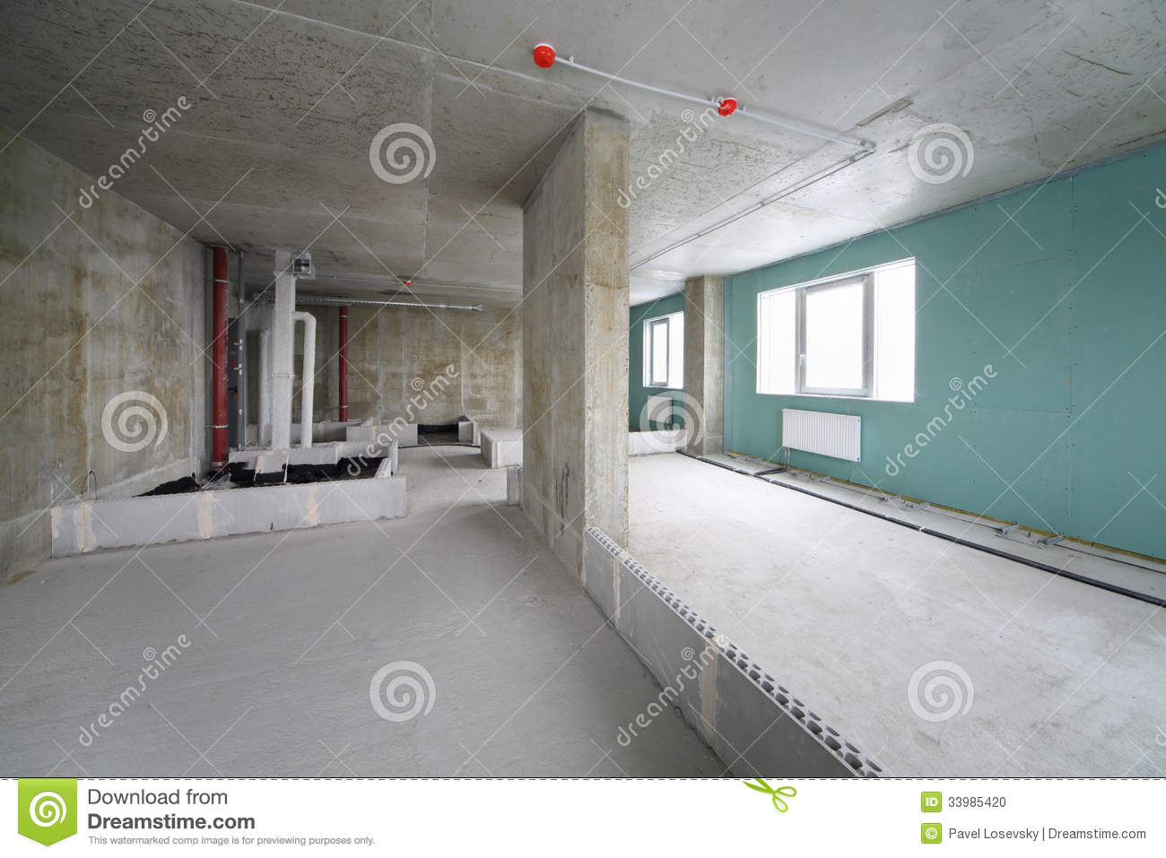 Fire Alarm System, Wet Zone In Flat Stock Photo