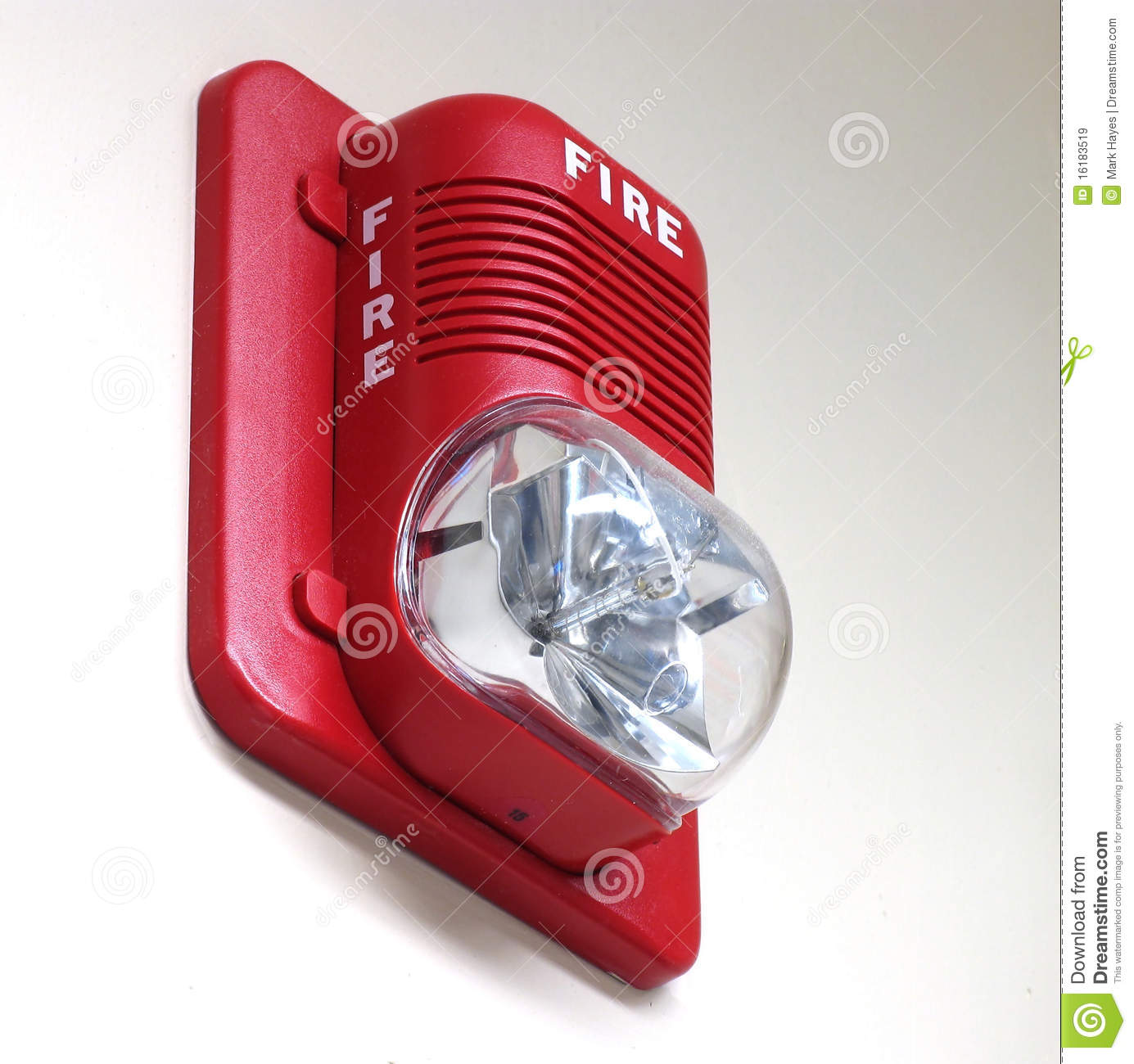 Fire Alarm On Wall Stock Image Image Of Background House