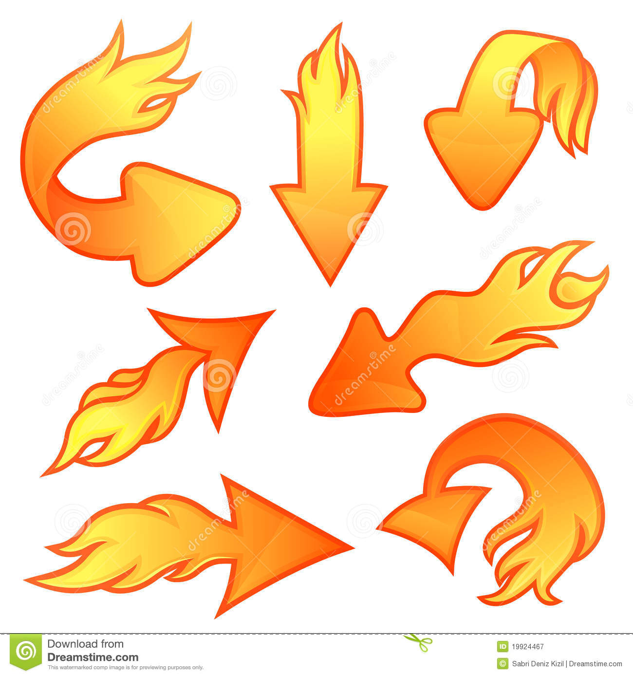 Fire arrows stock vector. Illustration of fire, flame ...
