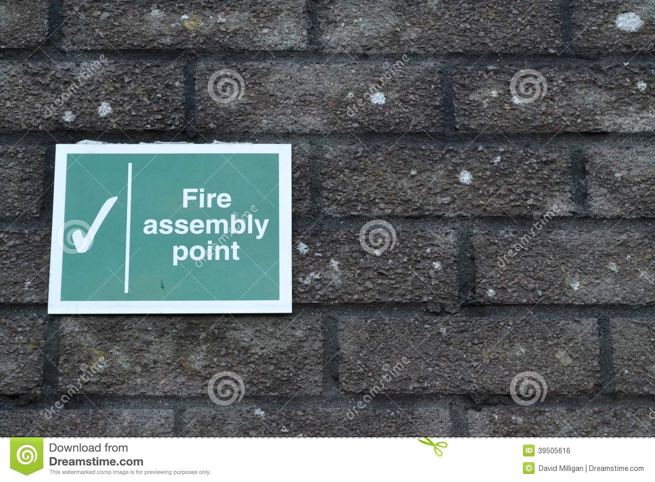 Download Fire assembly point sign stock photo. Image of danger - 39505616