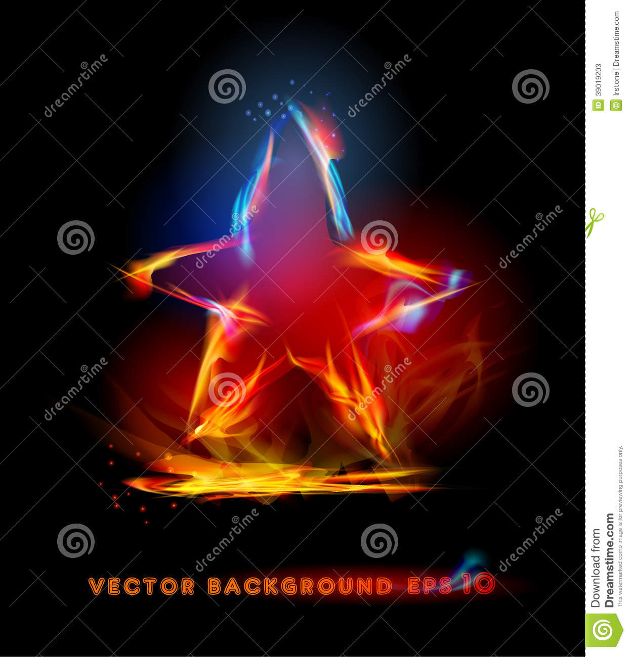 fire background star s...