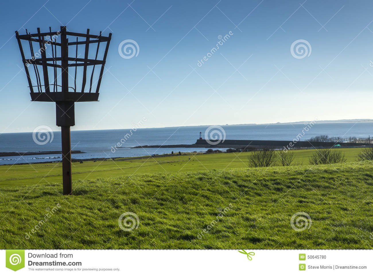 Fire beacon on the town fortifications at berwick upon Tweed