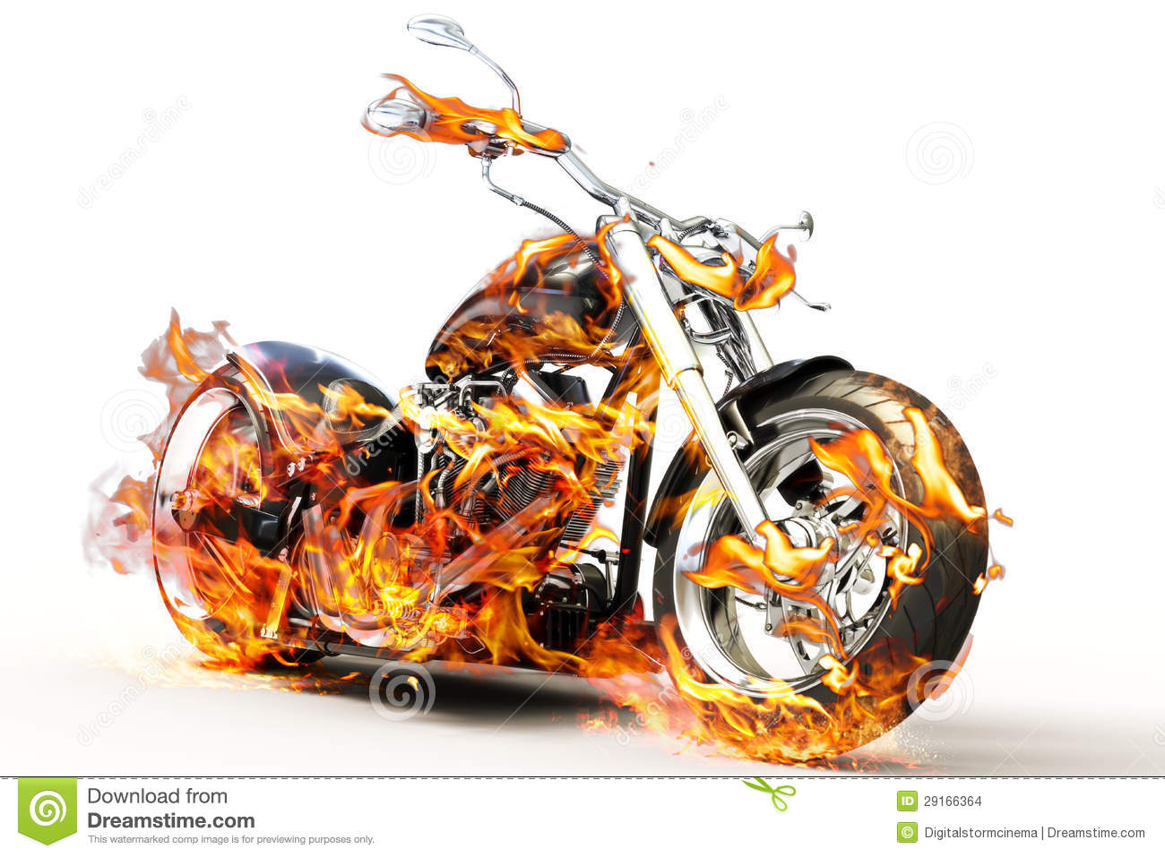 motorcycle fire pictures  Fire bike stock illustration. Illustration of headlight - 29166364