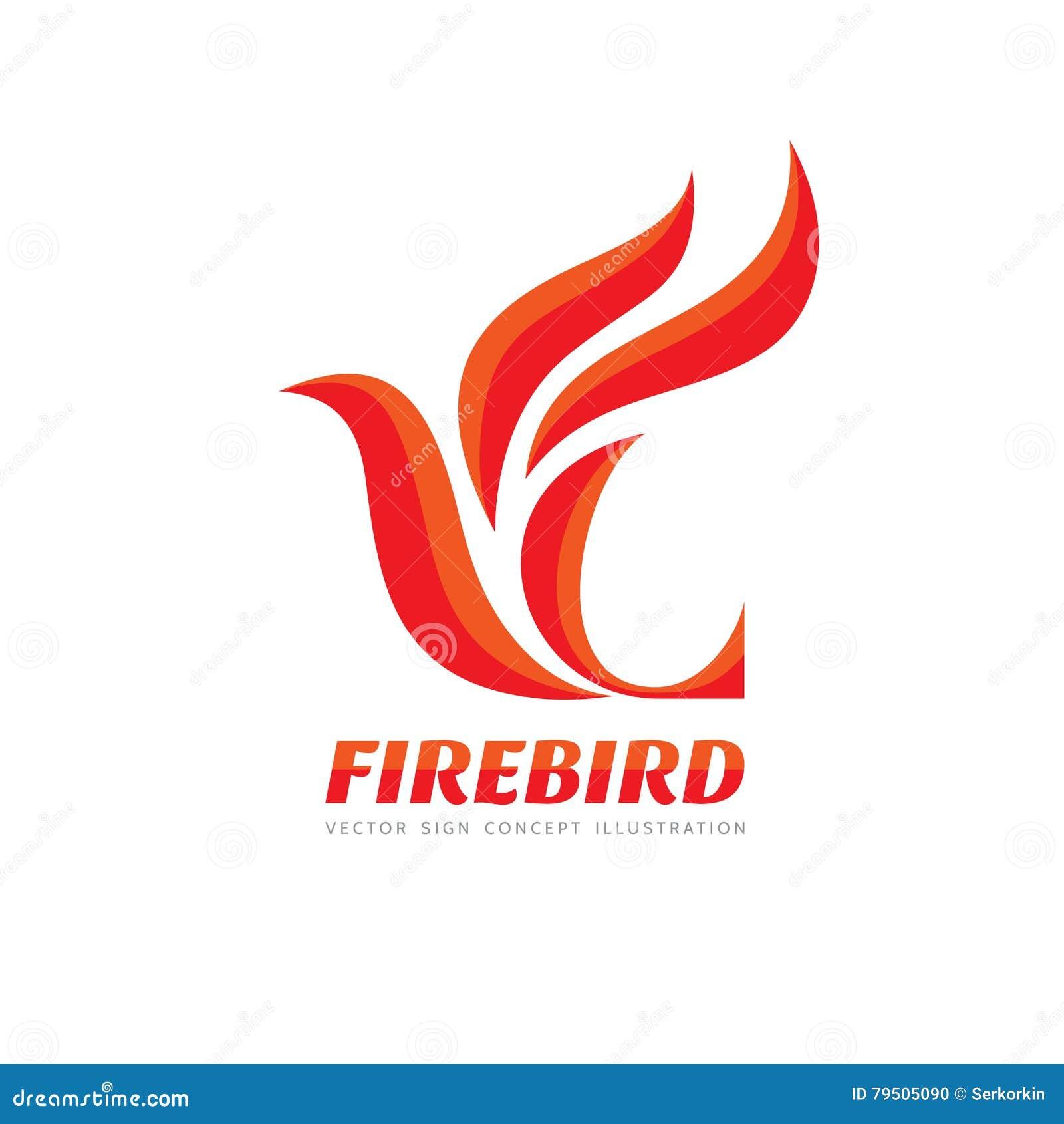 Fire Bird Vector Logo Template Concept Illustration Abstract