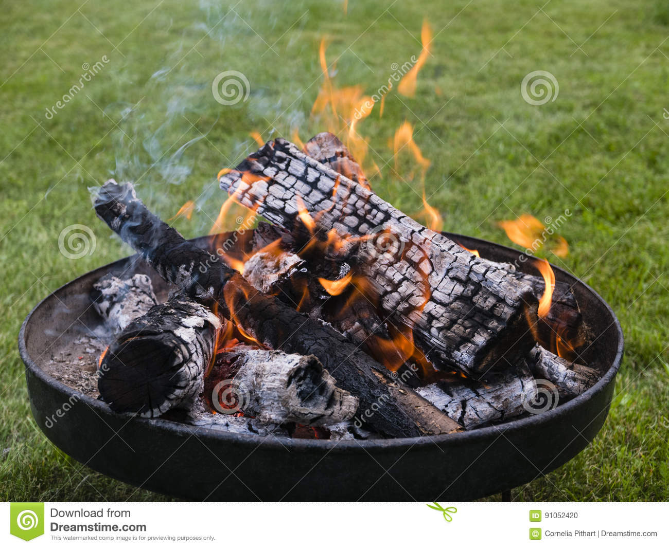 Fire Bowl stock photo. Image of format, outdoor, fireplace - 91052420