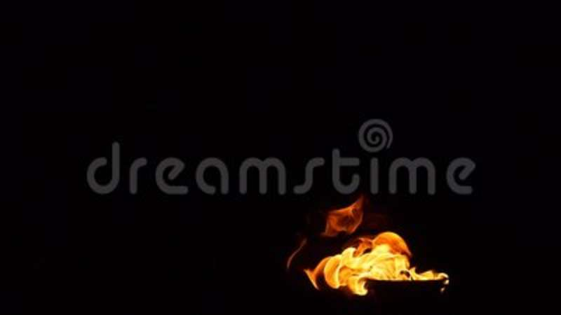 Fire in a brazier slow motion. Video stock video