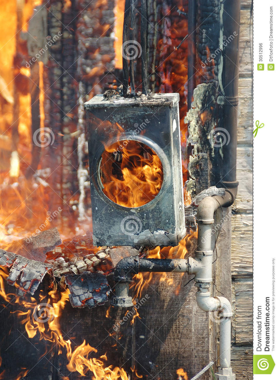 Fire Burn Stock Photo  Image Of Disaster  Panel  Burn