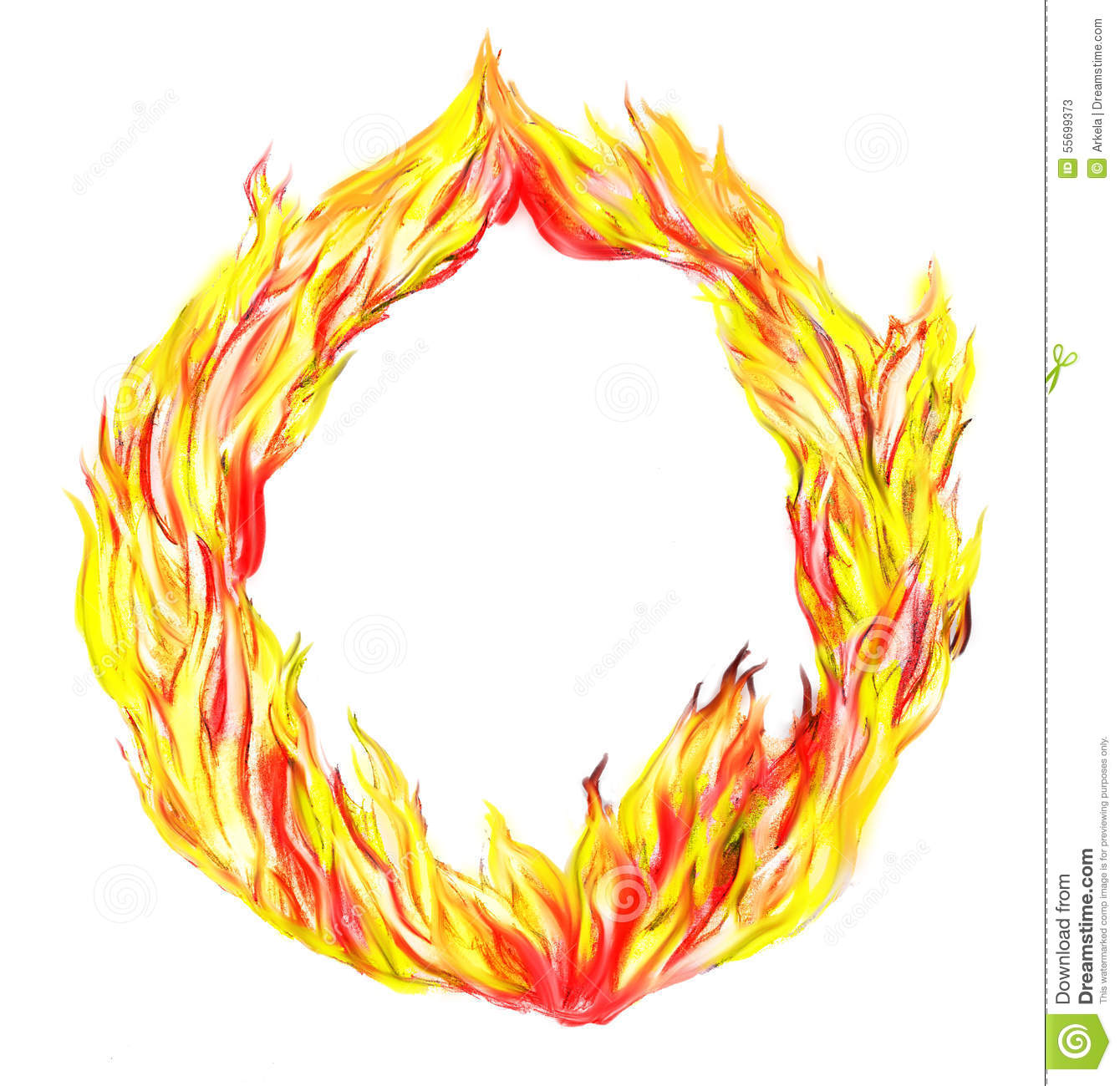 Fire circle stock illustration. Illustration of ring - 55699373 for Fire Lamp Clipart  584dqh