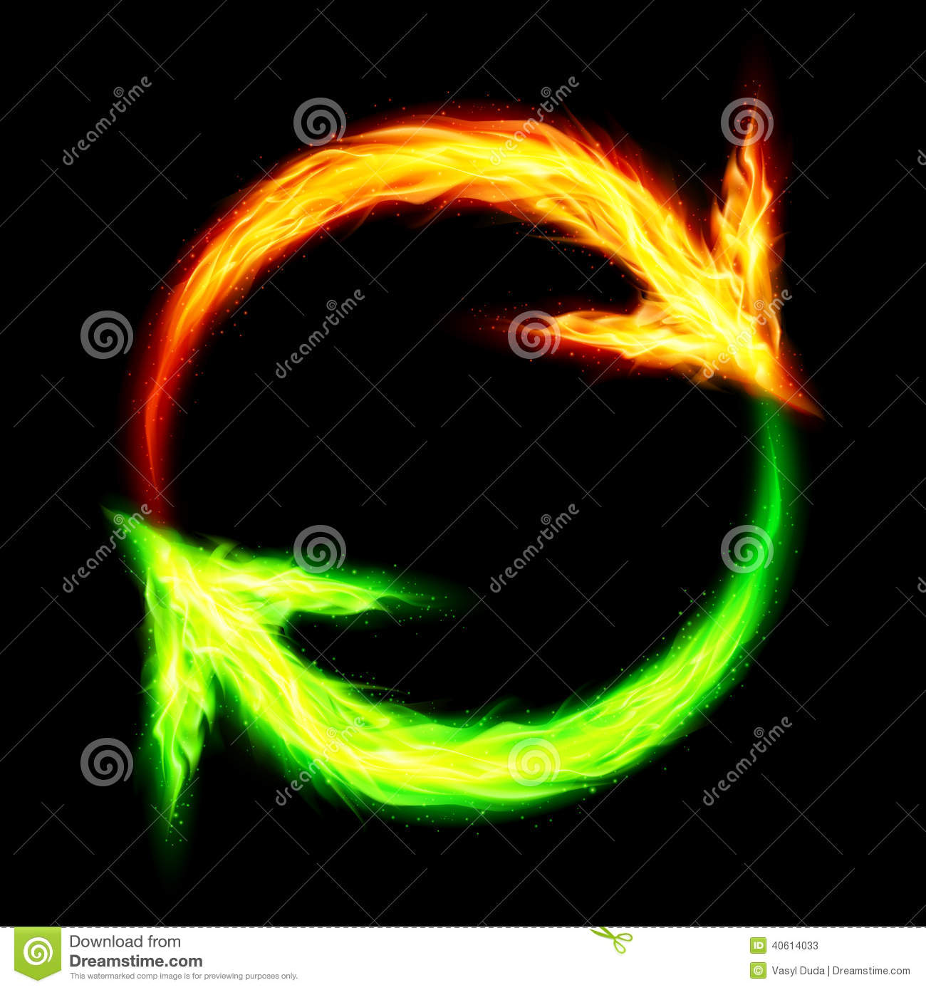 fire circular arrows stock vector image 40614033