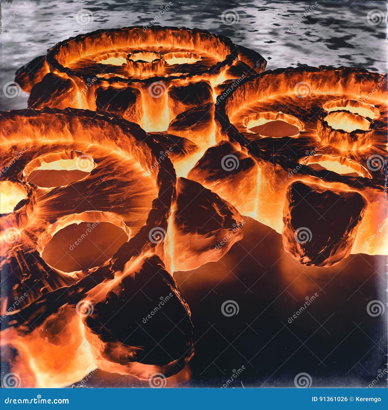 Fire Cog Wheel Background